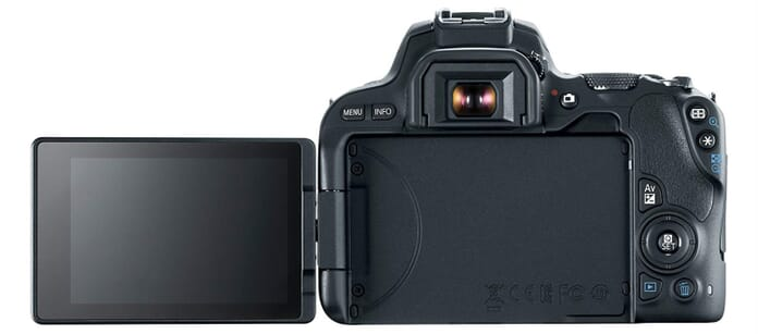 EOS Rebel SL2 Screen Flipped Out
