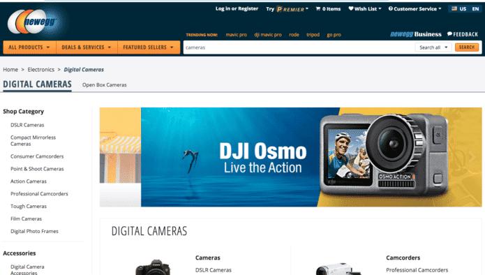 best online camera store