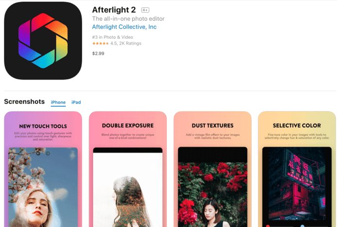 Afterlight 2 for iOS