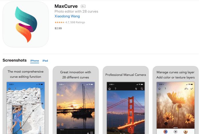 Max Curve tool for curve edits