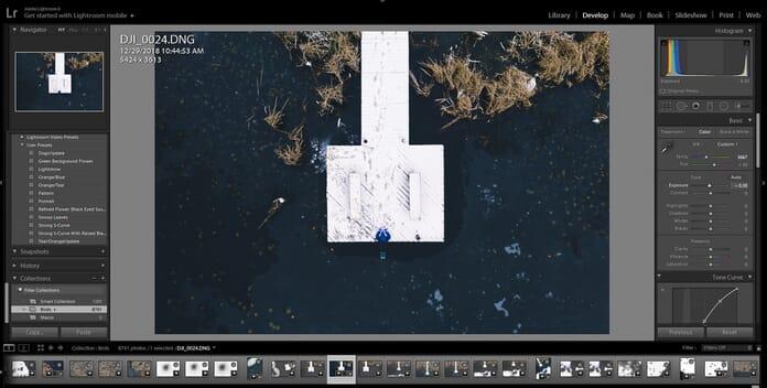 woman on dock edited dark