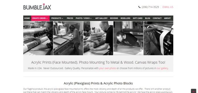 bumblejax metal prints how to print photos