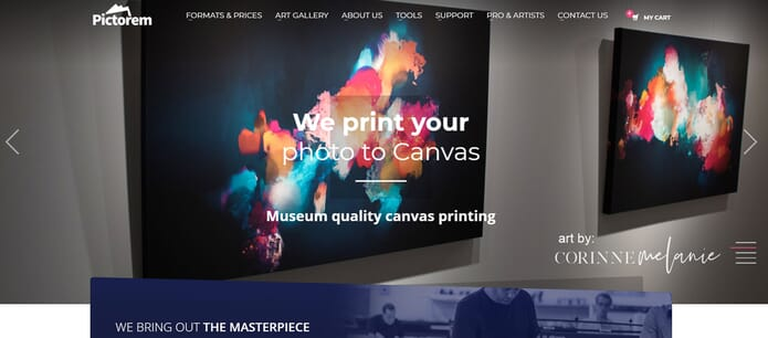 Pictorem website printing company
