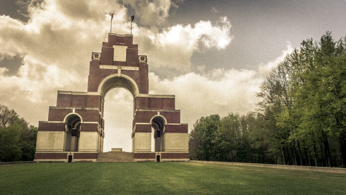 Artistic edit of the Thievpal Memorial in France