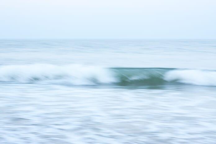 long shutter speed image of waves