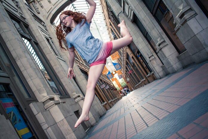 portrait photography action shot