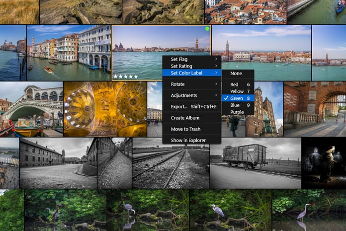Rating options for photos