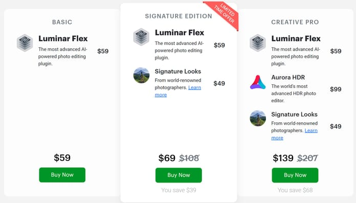 how much does luminar flex cost