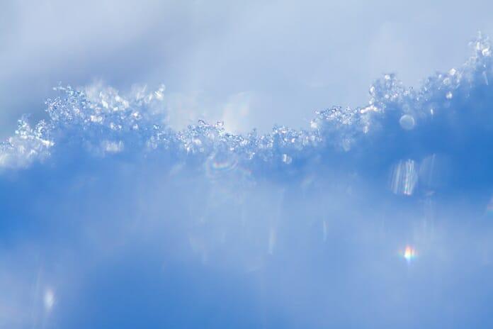 glistening snow