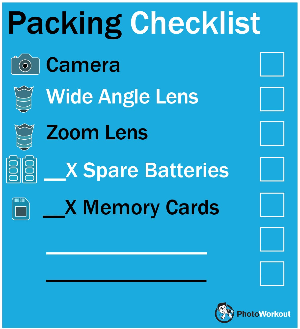 packing checklist how to take memorial pictures