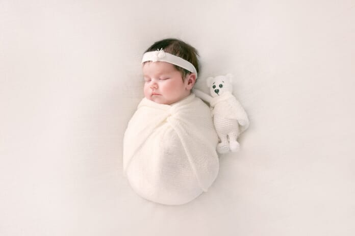 baby in swaddle