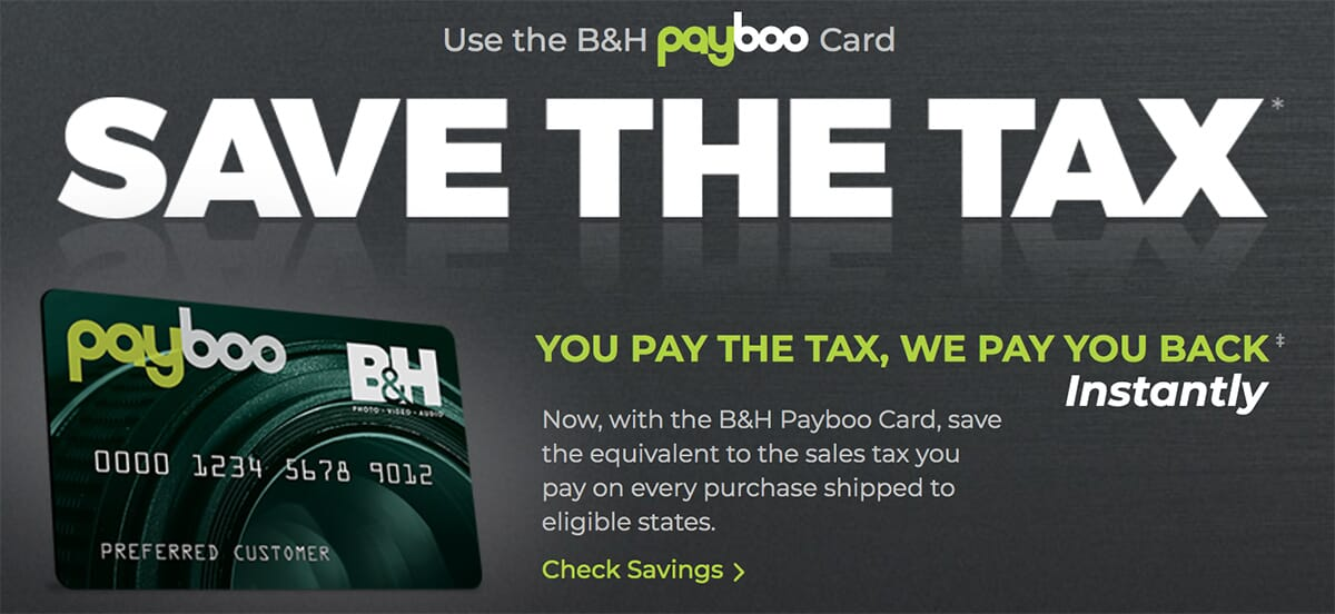 B&H Payboo credit card description