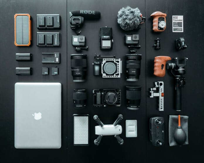 photography gear setup