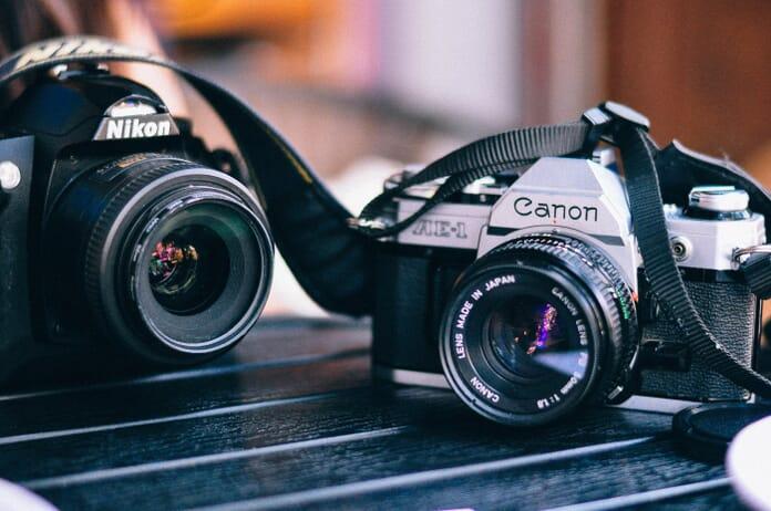 two cameras gear