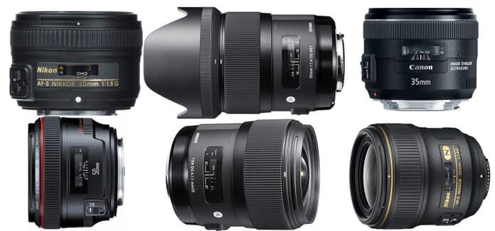 several quality lenses