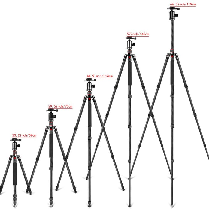tripod extends to various heights which is important photography gear
