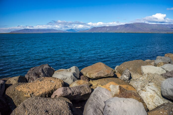 Reykjavik and the Esja Mountain range