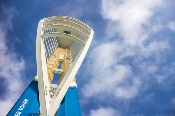 Spinnaker Tower during mid-day in Portsmouth