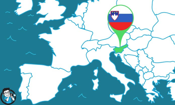 Map Showing Ljubljana
