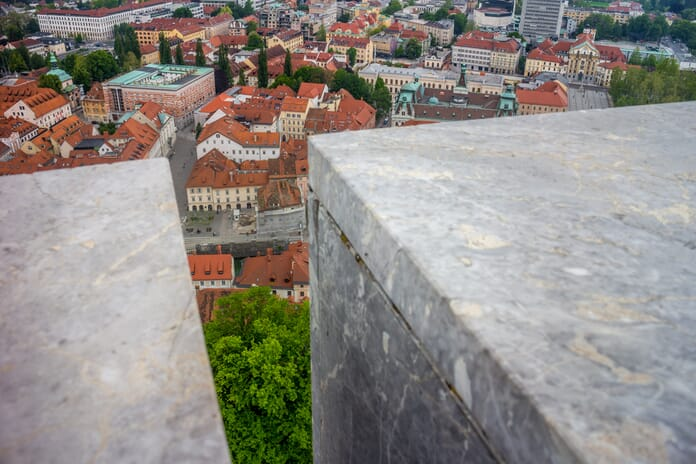 Views from the top of Ljubljana Castle
