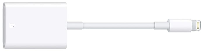 Apple Lightning SD card reader