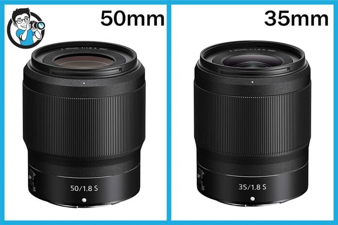 Nikkor Z mount 50mm and 35mm comparison