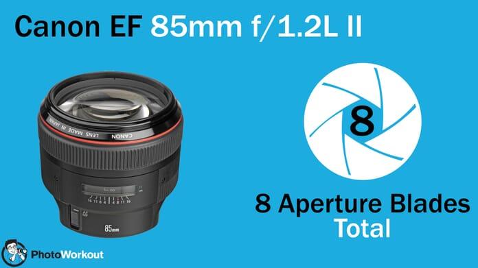 Canon EF 85mm 8 Aperture Blades