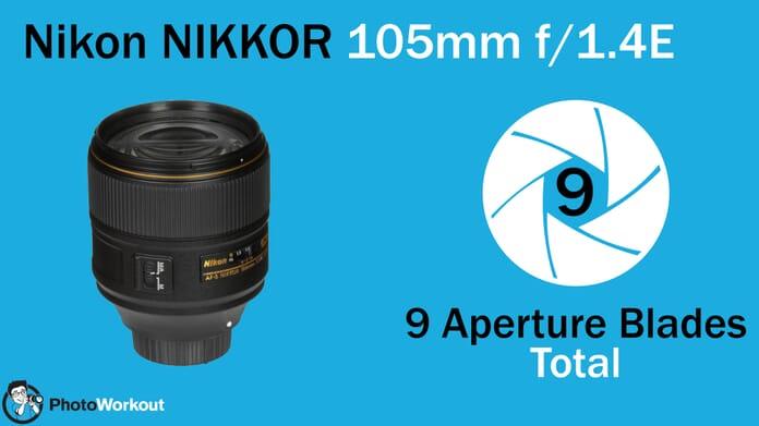 Nikon 105 9 Aperture Blades