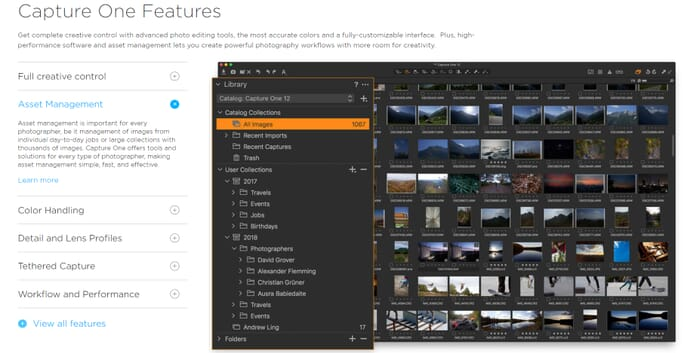 Capture one features best photo organization software for mac