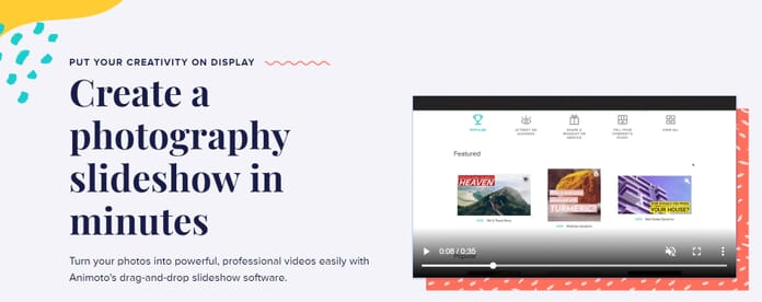 Animoto software best slideshow maker