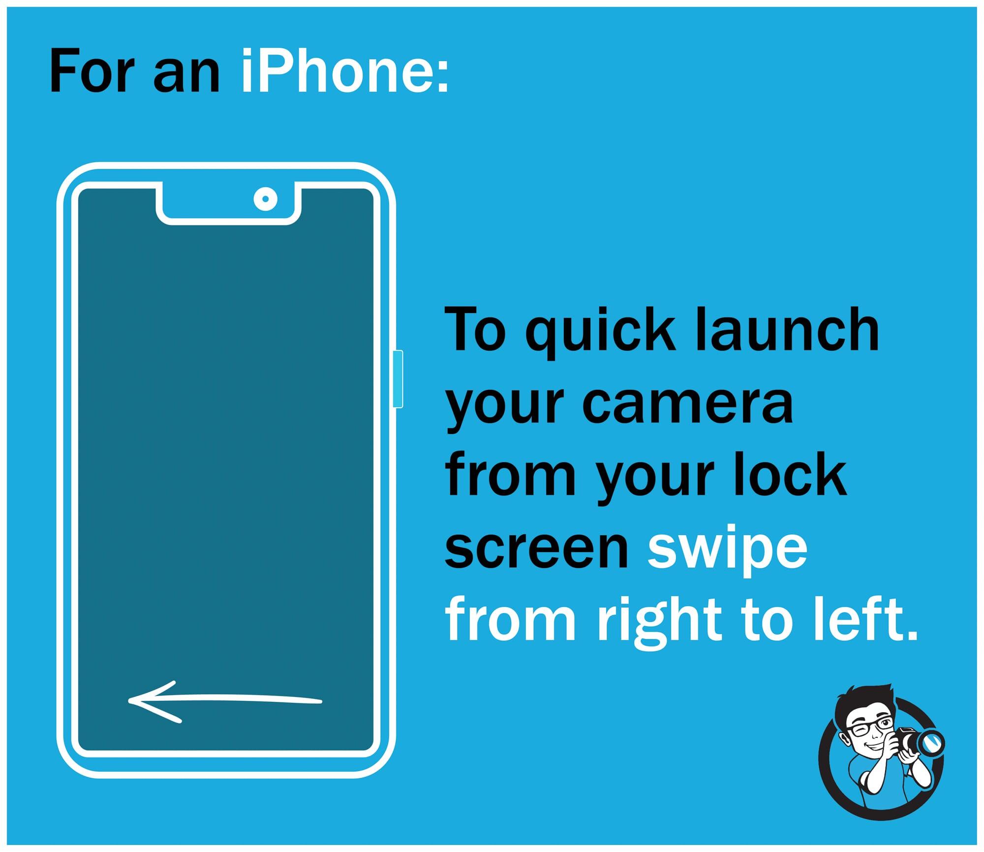 swipe open iphone camera