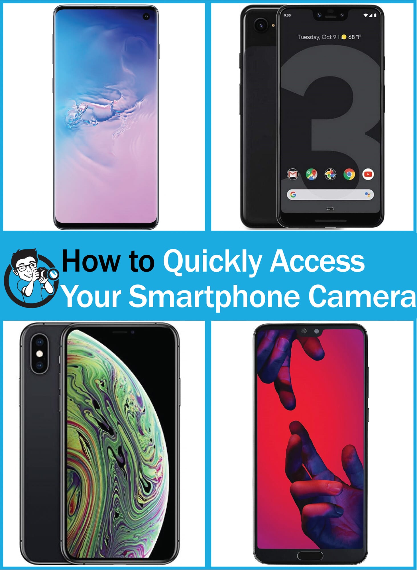 how to open smartphone camera fast