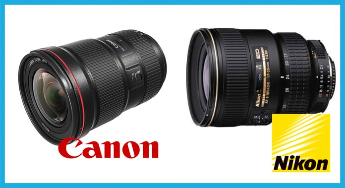 Landscape zoom lenses professional photography equipment