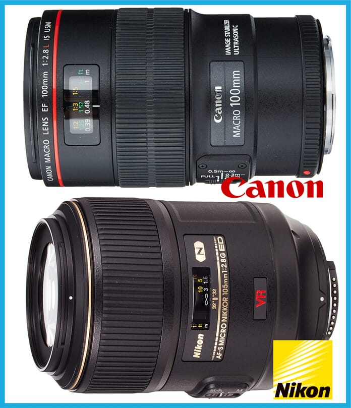 Macro lenses professional photography equipment