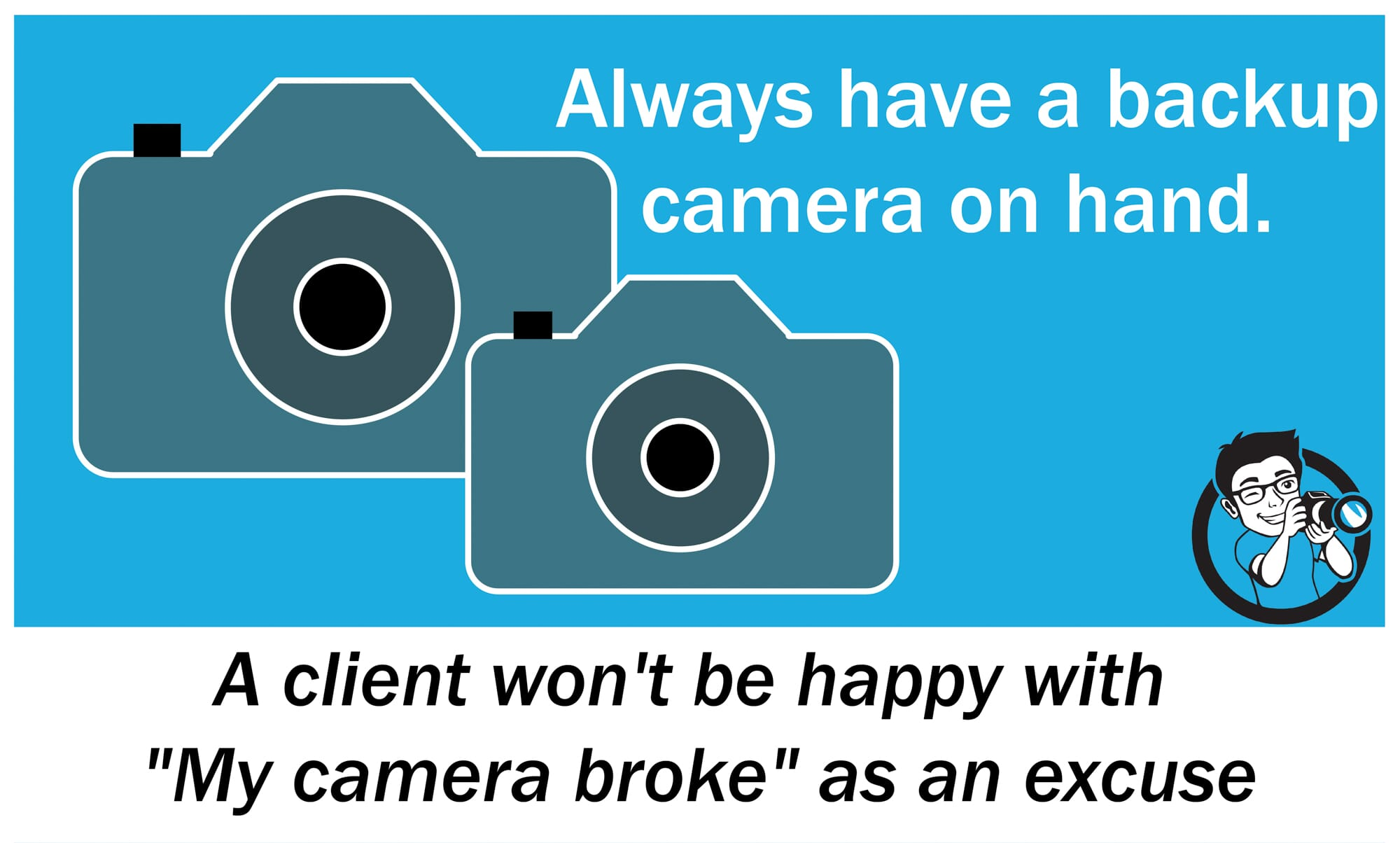quote backup camera professional photography equipment