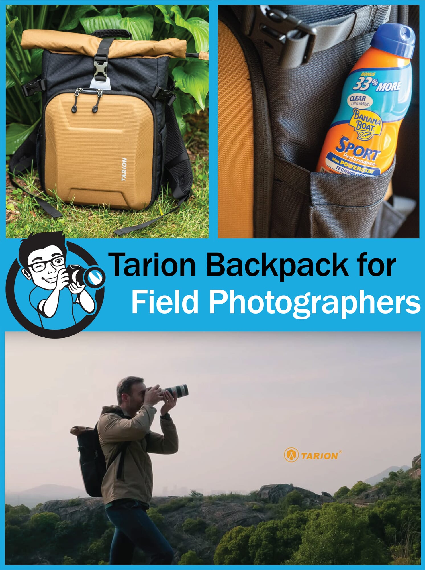 Tarion Backpack for Field Photographers Review