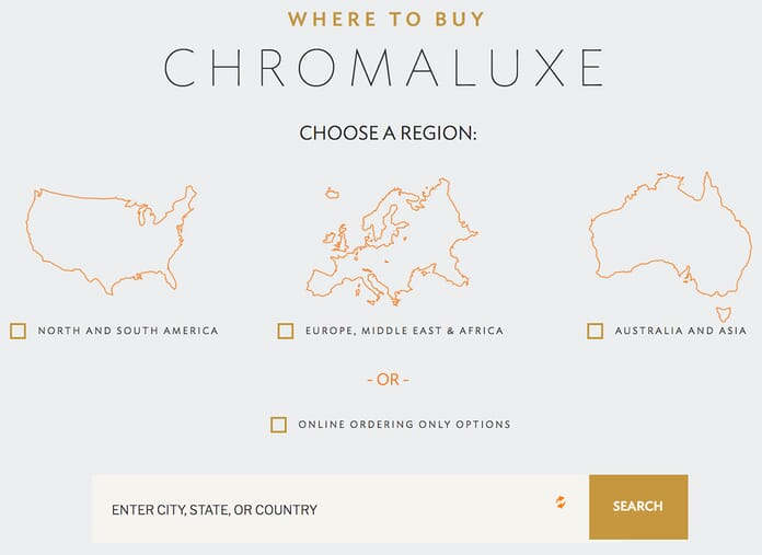 Chromaluxe ordering options