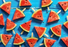 Stock Photography Trends - Watermelons on Blue Background