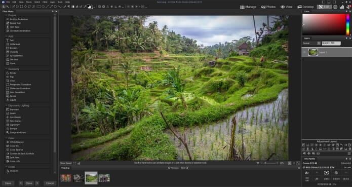 ACDSee Photo Studio Ultimate Review - Edit Tab