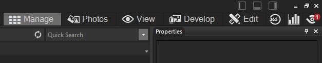 ACDSee Photo Studio Ultimate Manage Tab
