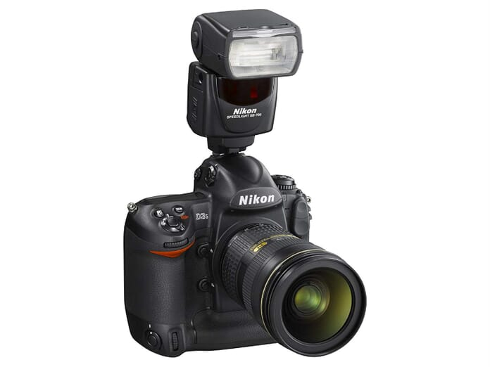 nikon flashgun mounted