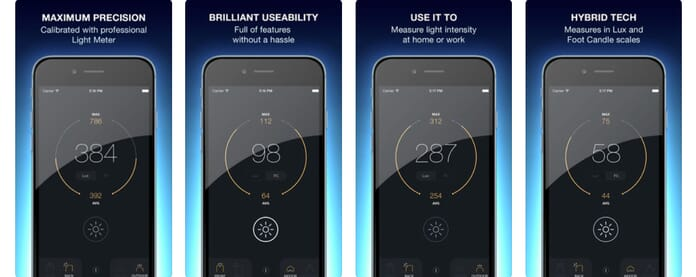 lux light meter for iphone