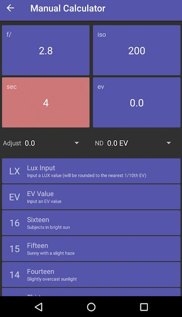 light meter free on android