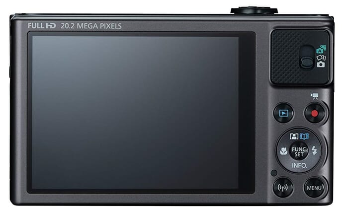 SX620 rear best point and shoot camera under 300