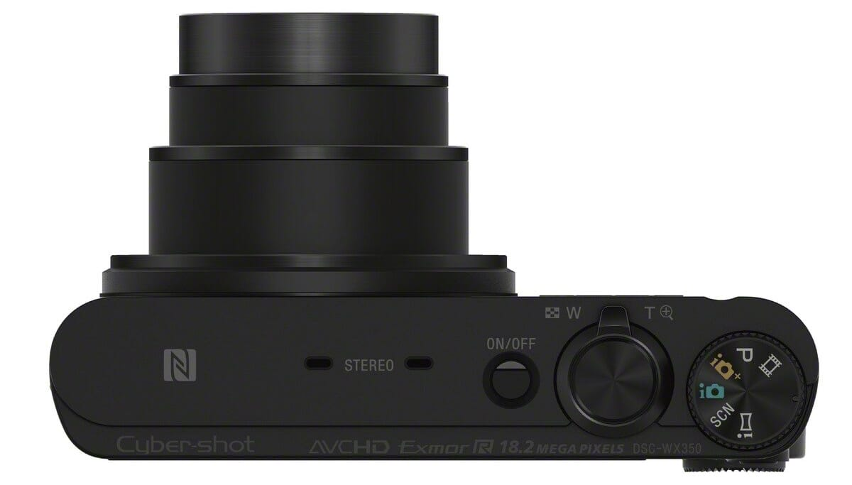 WX350 top view best point and shoot camera under 300