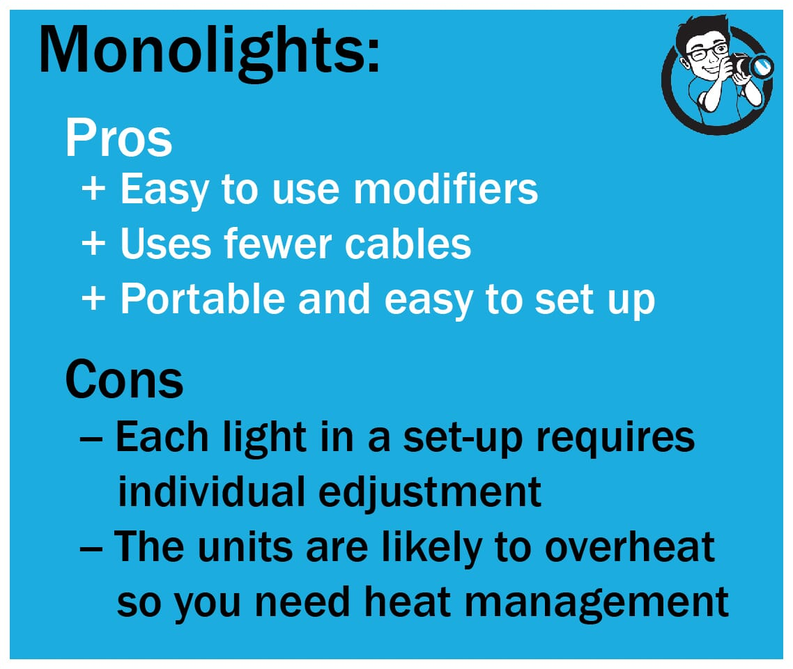 Pros and cons of monolights