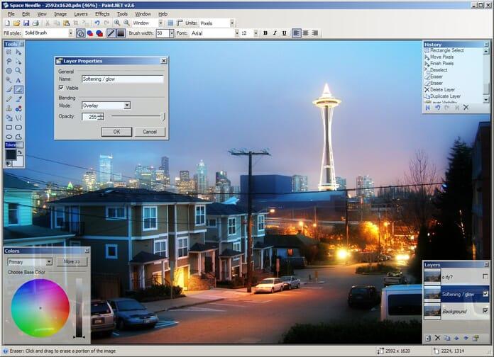 Best Photoshop alternatives - Paint.net