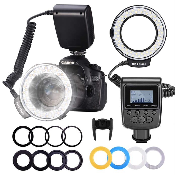 Neewer 48 Flash Ring Light for Macro Photography