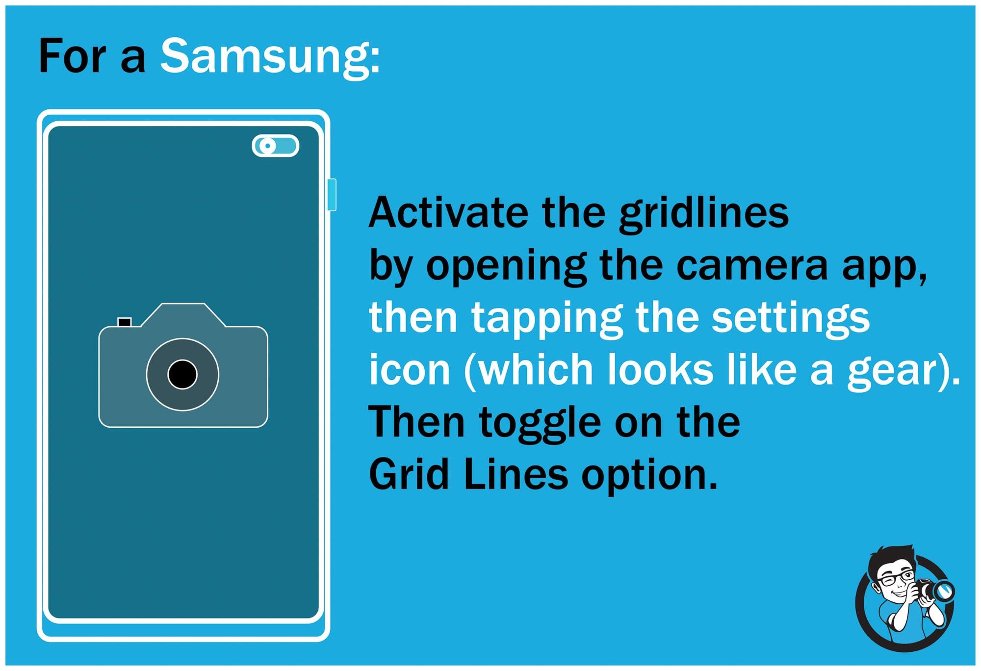 Activate grid samsung smartphone