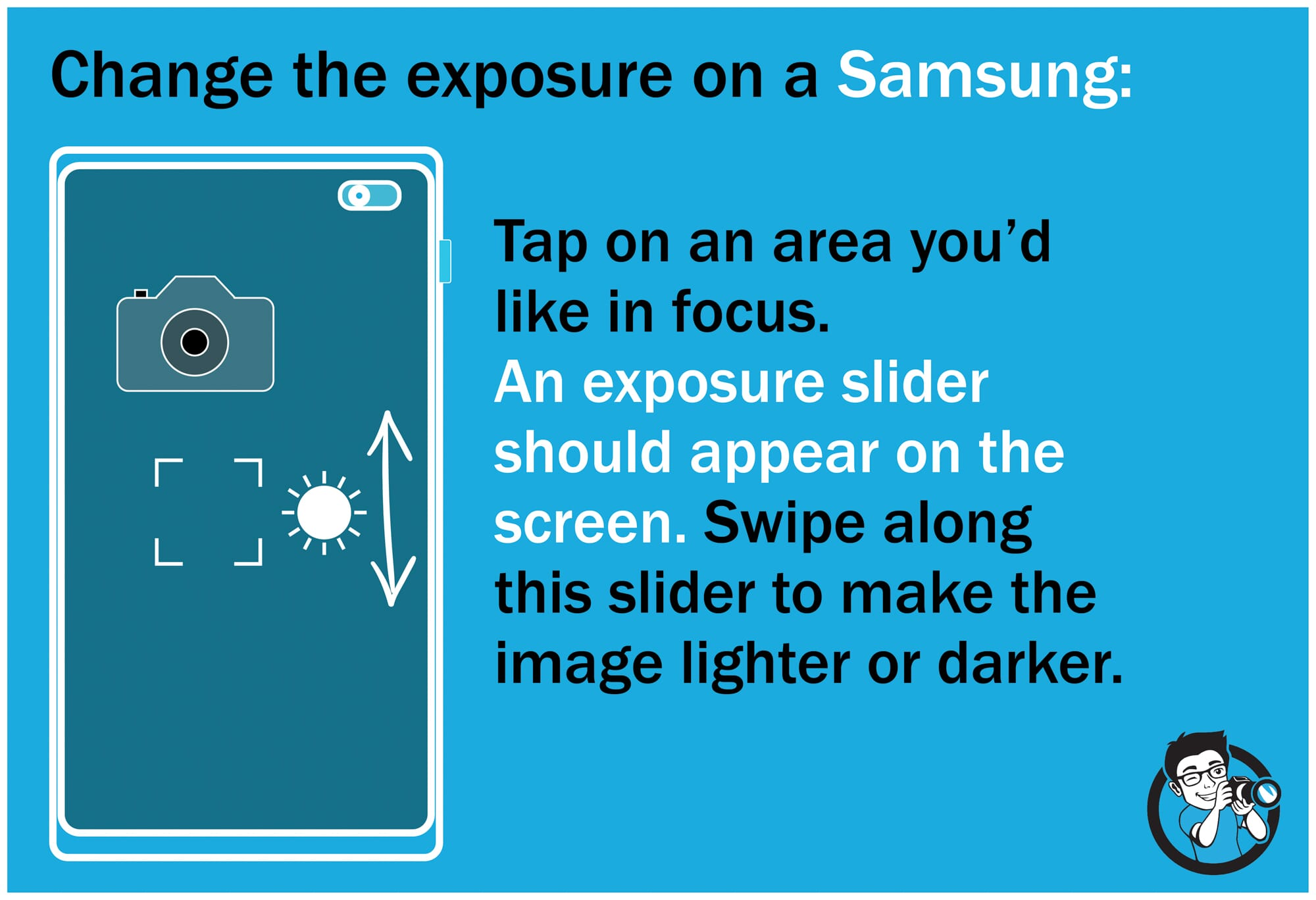 Light and exposure smartphone photography samsung settings